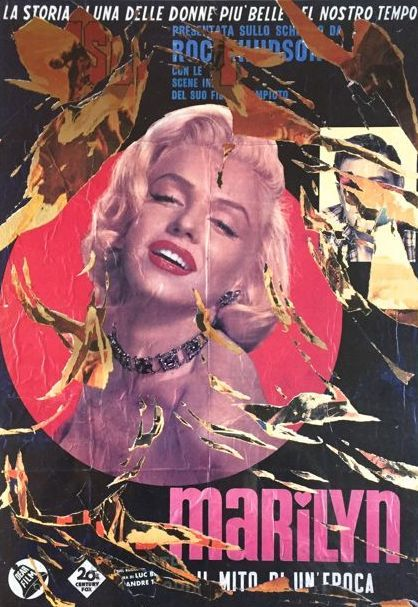 Mimmo Rotella - Marilyn bellezza eterna
