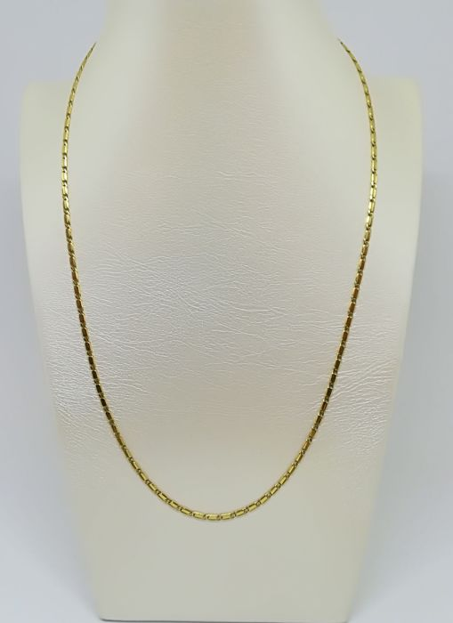 18 kt yellow gold necklace. Weight 8.51 g. Length 54 cm