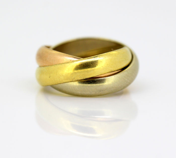 Cartier - 18K Gold Trinity Ring, France 1988