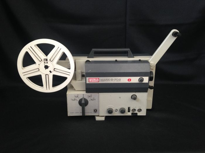 VINTAGE Film projector Eumig Mark S-706, with hard case and loudspeaker and tripod