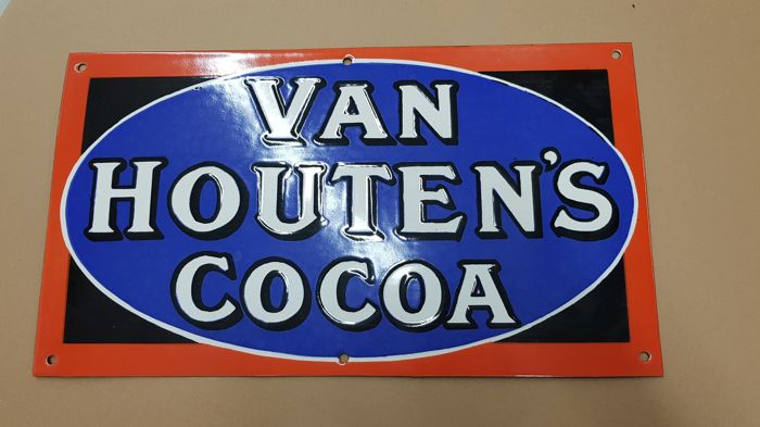 Enamel sign for Van Houten's Cocoa