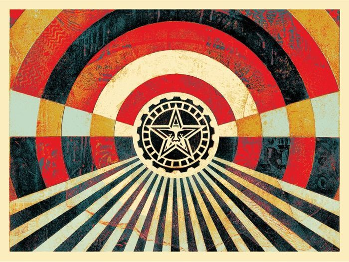 Shepard Fairey (OBEY) - Tunnel Vision (gold)