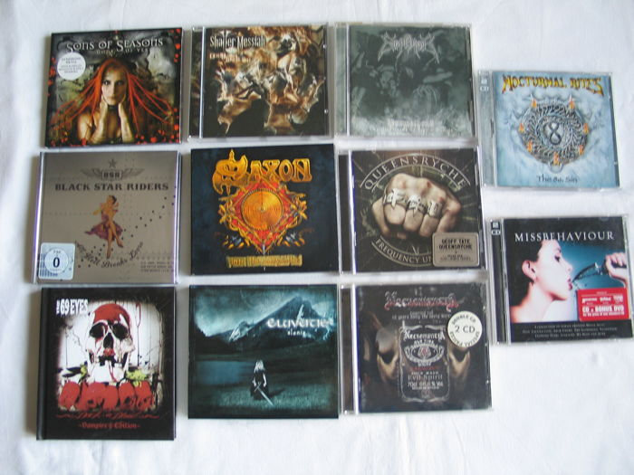 Lot of Hardrock & Heavy metal : 11 CD's & 7 DVD's.