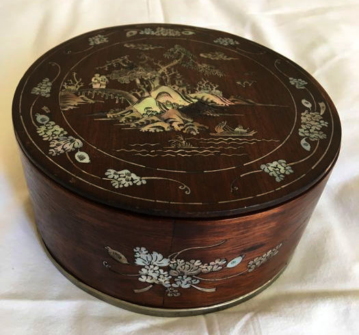 Wooden Box With Mother Of Pearl Decorations Handmade Italy 40th Amazing How To Decorate Wooden Boxes