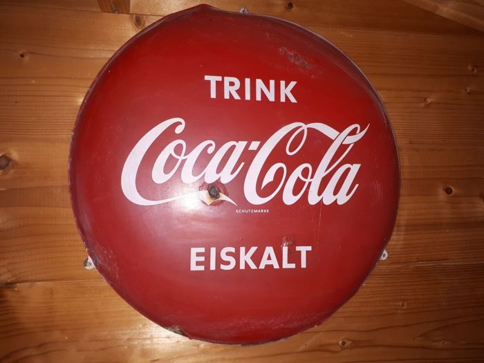 Original Coca-Cola advertising sign