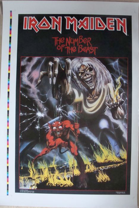 Iron Maiden Printer's Proof Poster Number of the Beast 1982