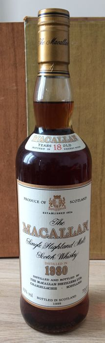 The Macallan 1980 18 years old - Sherry wood matured - OB