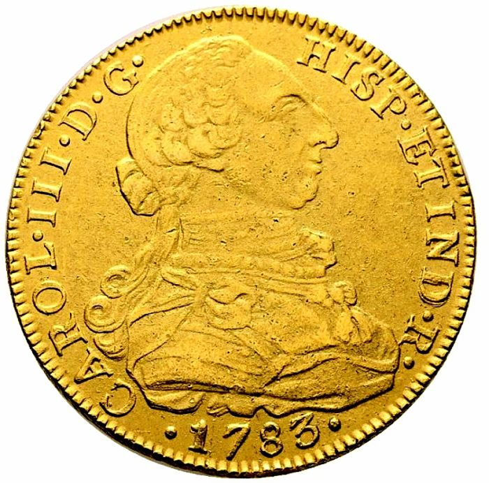 Spain - Carlos III (1759-1788) - 2 escudos in gold New kingdom, 1783 J. J.