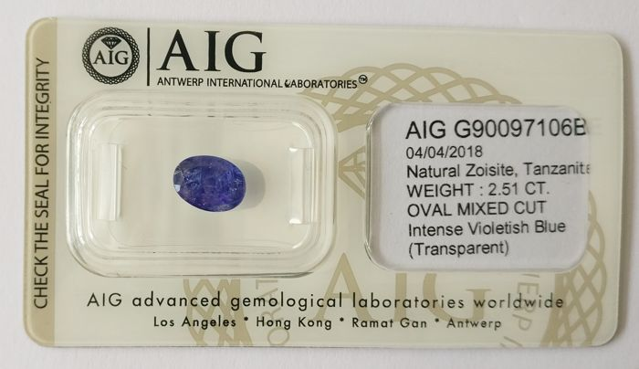 Tanzanite Intense  Violetish Blue 2.51 ct *** No Reserve ***