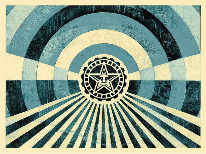 Shepard Fairey (OBEY) - Tunnel vision (blue)