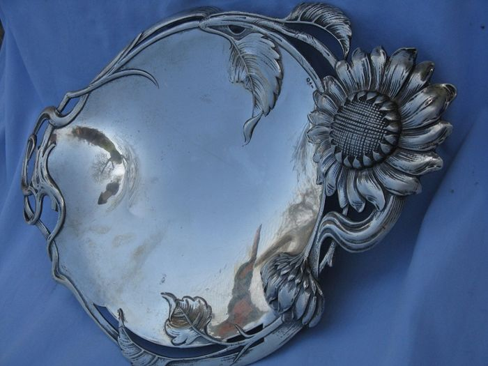 Antique silver centerpiece 800/1000 - Austro-Hungarian Vienna 1867/1922 - Art Nouveau -