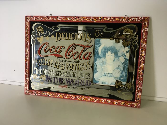 Vintage Coca-Cola advertising mirror