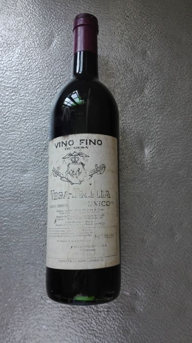 Vega Sicilia Unico Reserva Especial (1960/1962/1968) bottled in 1978