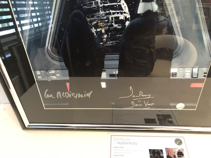 ian mcdiarmid and dave prowse signed star wars photo the. Black Bedroom Furniture Sets. Home Design Ideas