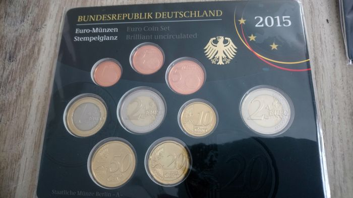 Germany Year Collection 2015 Adfgj 2 Hessen 2 Euro German