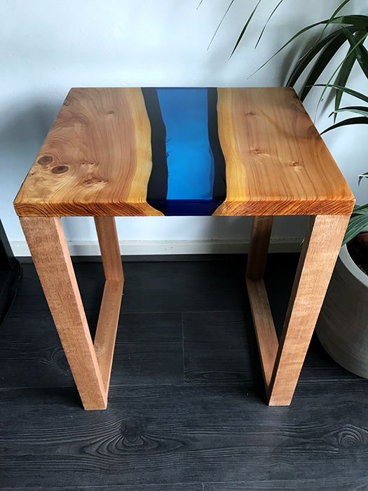 Handmade river side table