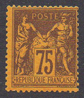 France 1870 - Sage Type II - 75c Violet on orange - Yvert n° 99