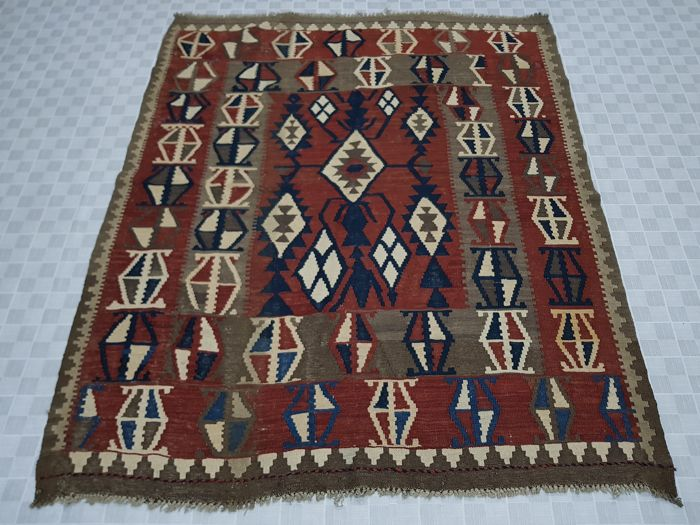 Turkish Kilim 181 cm x 156 cm