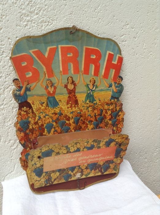 BYRHH advertising sign 1930s - rare and genuine publicity board with letter holder