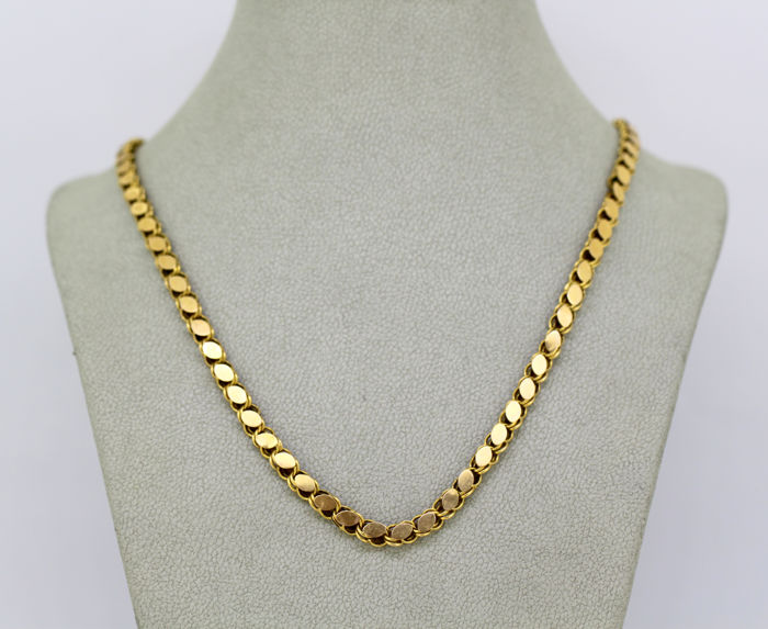 Vintage 18k gold necklace, circa.1970's