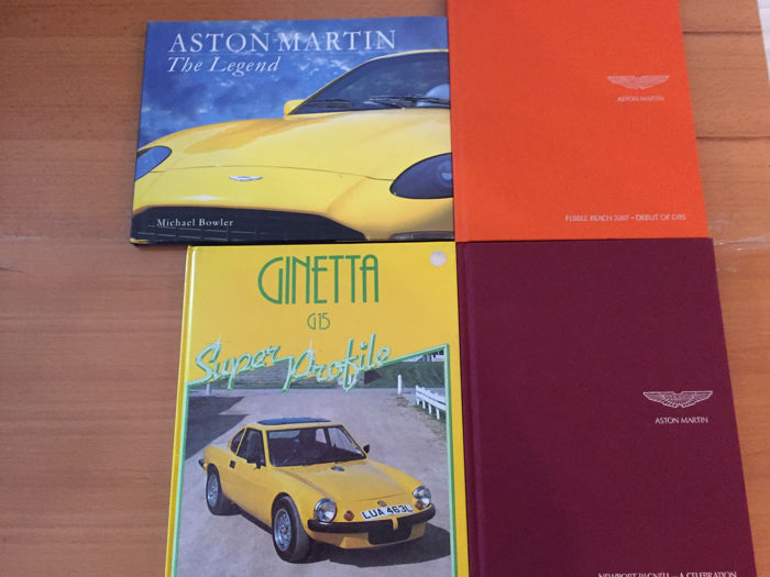 4 books about Aston Martin and Ginetta