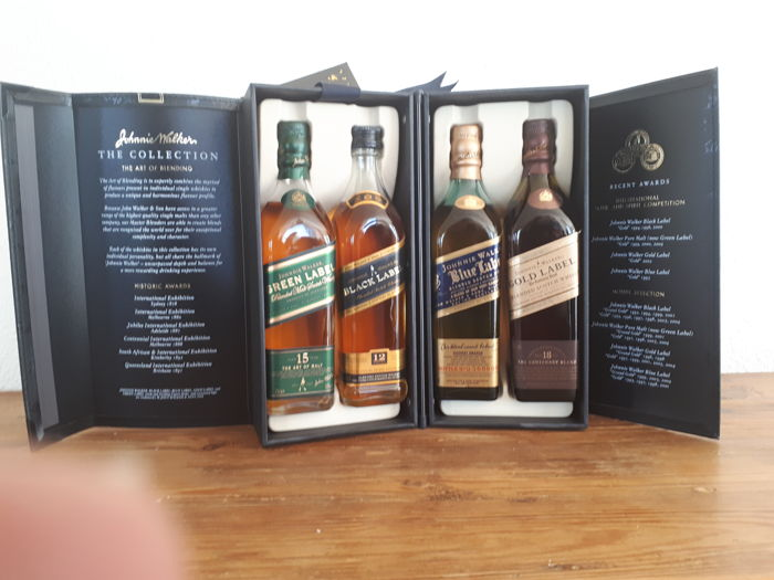 Johnnie Walker The Collection - Blue, Gold, Green & Black Label - 20 cl - 4 flaschen