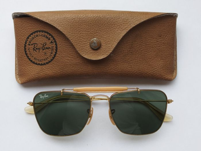 Ray-Ban B&L Aviator Outdoorsman Caravan Gold Sunglasses - Vintage