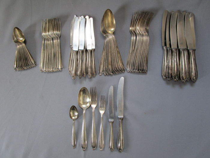 WP & co Pfeiffer Wilhelm & Co Solingen - cutlery - 58 pieces - circa 1950/60 - 90s silver plating