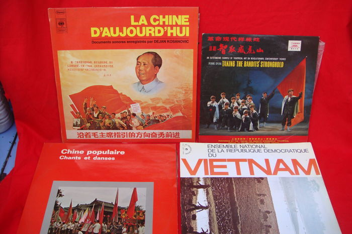 4 LP's - La Chine D'aujourd'hui - Chants et Danses - Taking the Bandits Stronghold + Vietnam (ensemble national)
