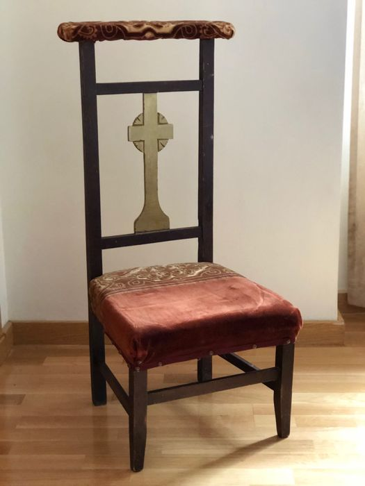 Antique upholstered kneeler