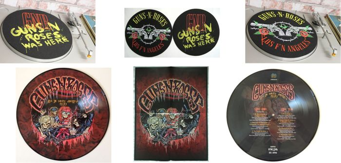Guns 'N' Roses  Set Of Two Exclusive Slipmats  -and Picture Disc  Still Sealed !!