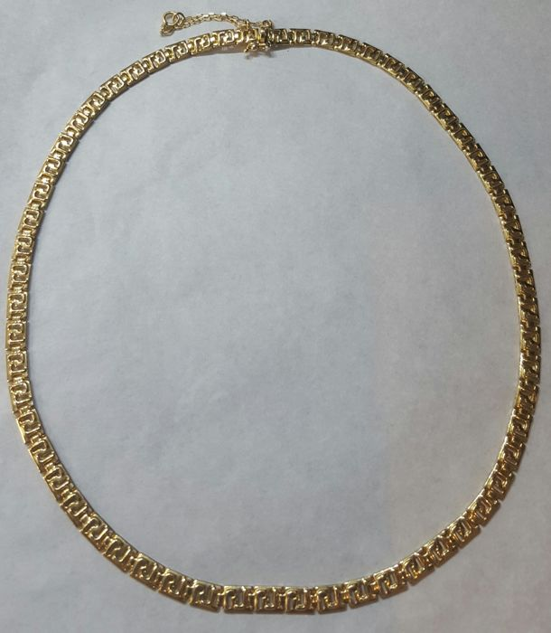 Gold 18 kt/750 - Gold necklace with classic Greek links - 16.80 g