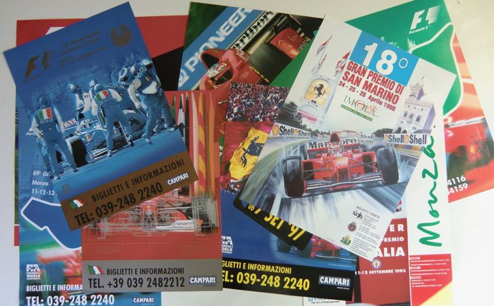 Picture - 10x Affiche GP F1 Monza + Imola (10 items)