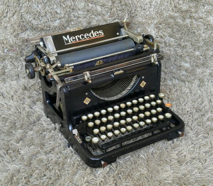 Mercedes 6 - Antique Typewriter - Germany - 1935