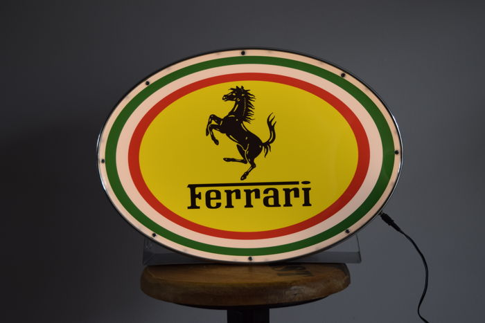 Ferrari lamp, logo Prancing horse, collector's object