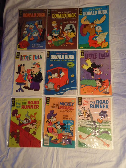 Lot Of 9 American Comics Donald Duck Mickey Mouse A O