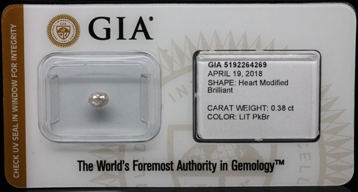 0.38 ct. GIA Certified Natural Light Pink-brown, Even Diamond - NO RESERVE