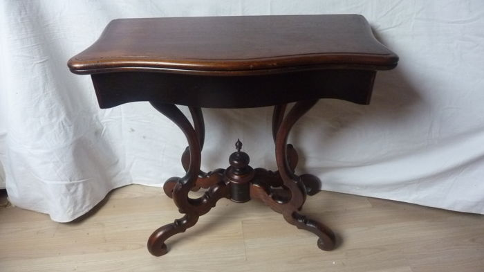 Antique Card Table Biedermeier 2nd Half Of The19th Century Catawiki