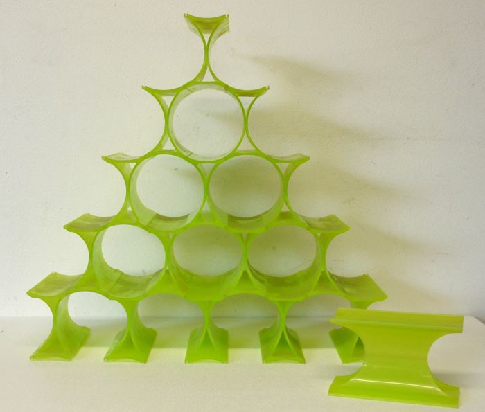 Ron Arad for Kartell - bottle holder - Infinity model - the lot is made up of 16 elements