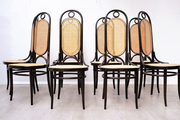 Thonet - 8 chairs, Model 76/77