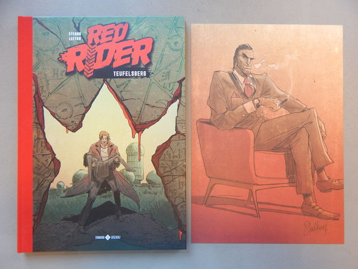 Red Rider 2 - Teufelsberg + signed print - Author's copy - deluxe hc with cloth spine - 1st edition (2017)