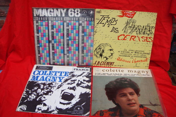 4 LP's May 68 - 3 x Colette Magny - 1 x Adrienne Chaumont