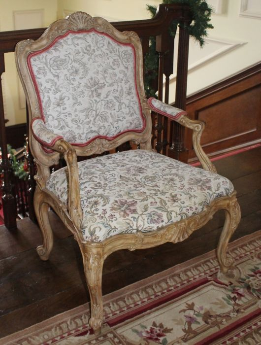 Carved Louis XV Style Fauteuil, late 20th century