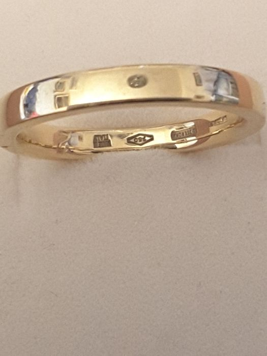 Bvlgari - 18 kt gold wedding band, weight: 4 g - no reserve price