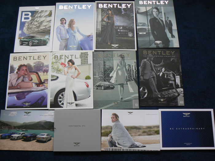 Official Bentley brochures en Magazines