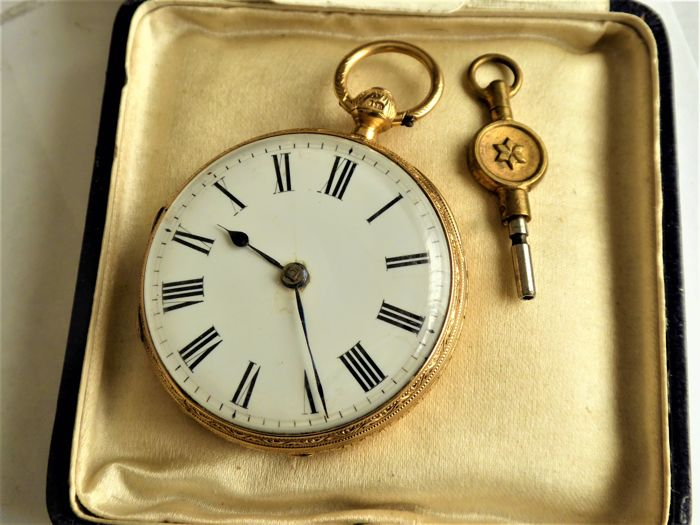 swiss -  fusee pocket watch  {1881-F }  - Heren - Other