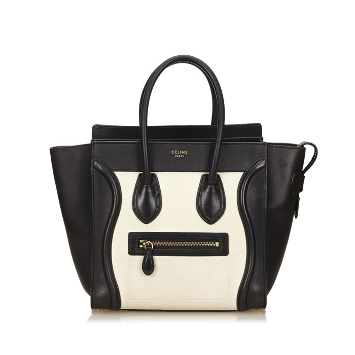 Celine - Leather Luggage Tote