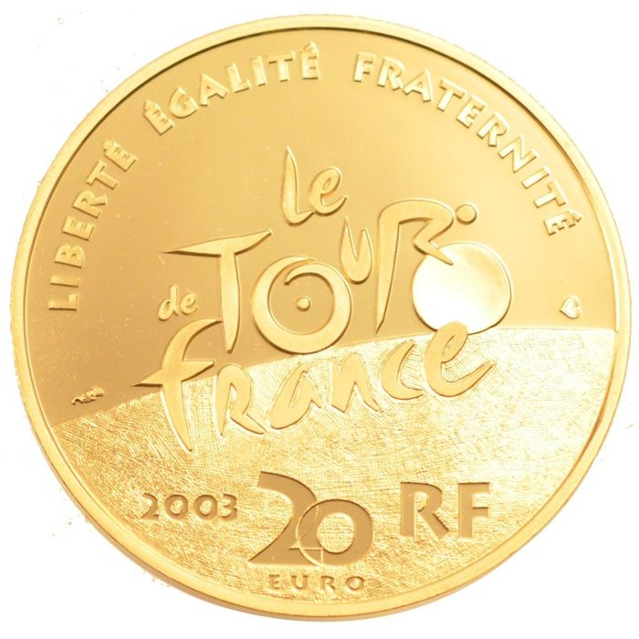 France - 20 Euro 2003 'Centenaire du Tour de France' - gold