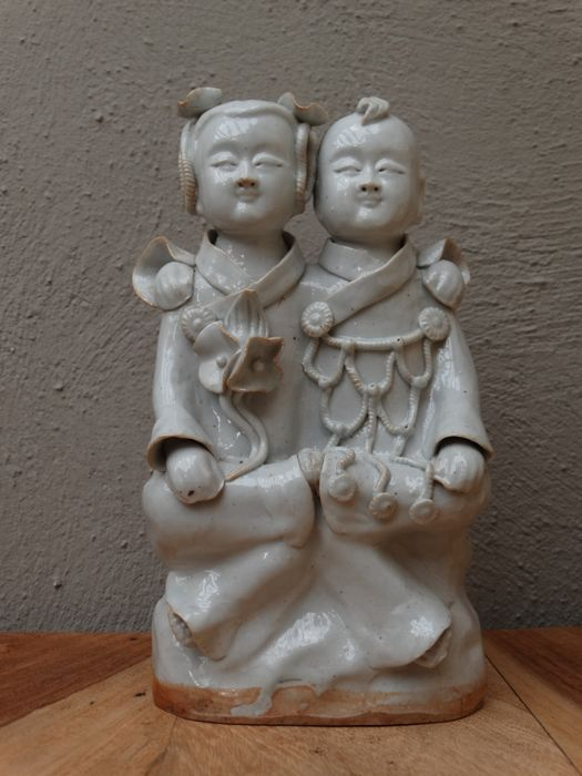 Shufu porcelain statue, children - China - 2nd half 20th century