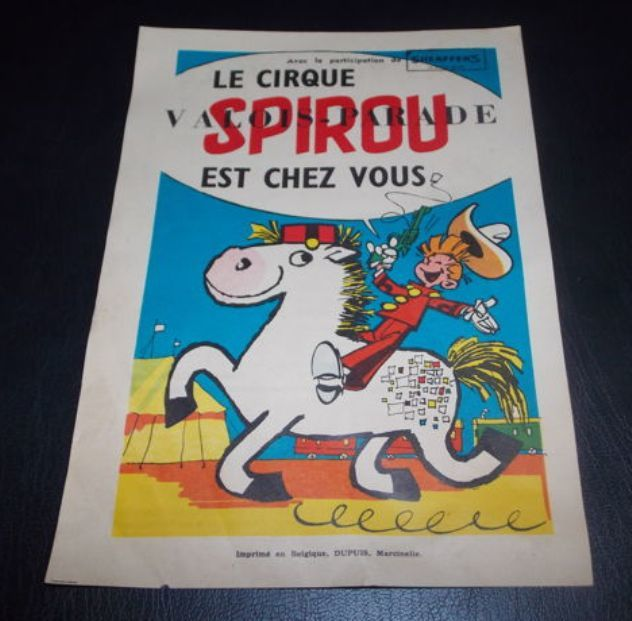 Spirou (magazine) - Flyer Cirque Spirou - Loose Page - First Edition - (1957)